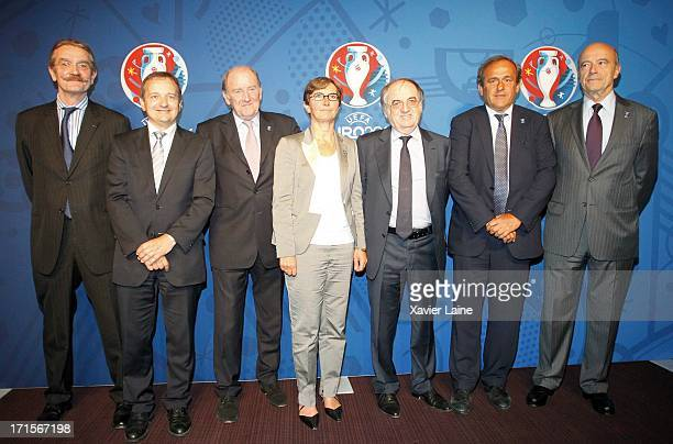President Frederic Thiriez Saint Etienne Mayor Maurice Vincent EURO 2016 President Jacques Lambert French Sports Minister Valerie Fourneyron French...