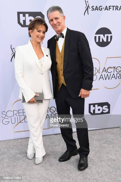 President Gabrielle Carteris and Charles Isaacs and attend the 25th Annual Screen Actors Guild Awards at The Shrine Auditorium on January 27 2019 in...