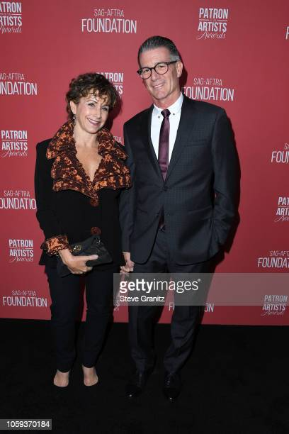 President Gabrielle Carteris and Charles Isaacs attend SAGAFTRA Foundation's 3rd Annual Patron of the Artists Awards at Wallis Annenberg Center for...