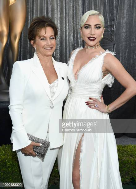President Gabrielle Carteris and Lady Gaga attend the 25th Annual Screen Actors Guild Awards at The Shrine Auditorium on January 27 2019 in Los...