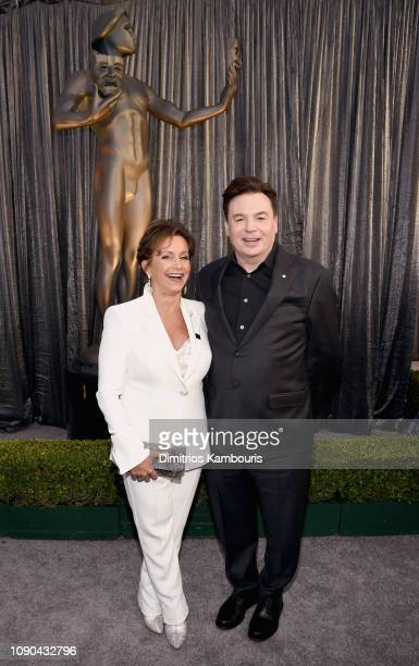 President Gabrielle Carteris and Mike Myers attend the 25th Annual Screen ActorsGuild Awards at The Shrine Auditorium on January 27, 2019 in Los...