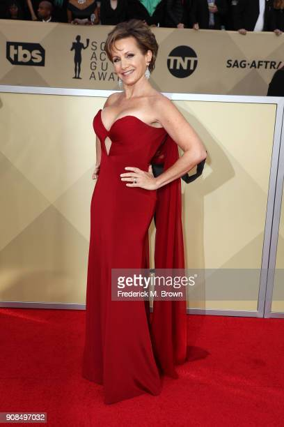 President Gabrielle Carteris attends the 24th Annual Screen Actors Guild Awards at The Shrine Auditorium on January 21 2018 in Los Angeles California...