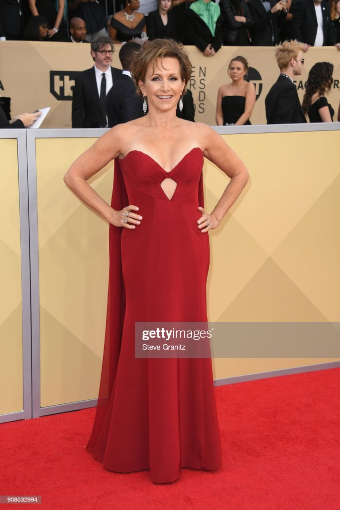 President Gabrielle Carteris attends the 24th Annual Screen ActorsGuild Awards at The Shrine Auditorium on January 21, 2018 in Los Angeles, California.