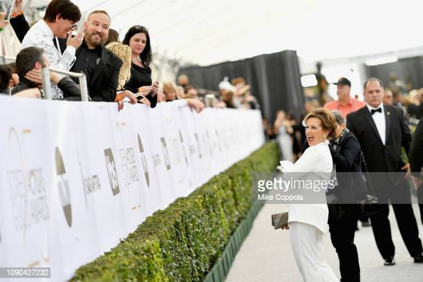 President Gabrielle Carteris attends the 25th Annual Screen Actors Guild Awards at The Shrine Auditorium on January 27 2019 in Los Angeles California...