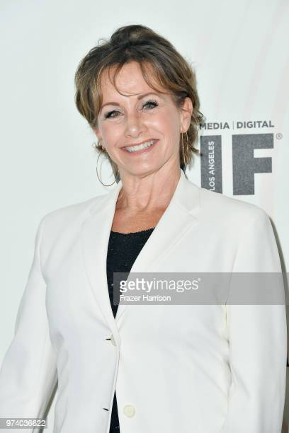 President Gabrielle Carteris attends the Women In Film 2018 Crystal Lucy Awards presented by Max Mara Lancôme and Lexus at The Beverly Hilton Hotel...