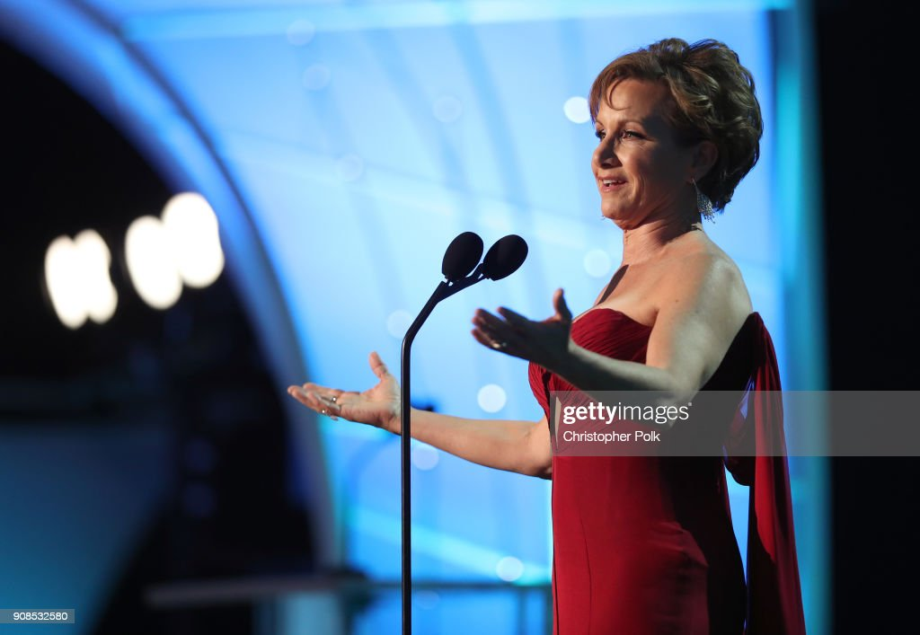 President Gabrielle Carteris speaks onstage during the 24th Annual Screen Actors Guild Awards at The Shrine Auditorium on January 21, 2018 in Los Angeles, California. 27522_010