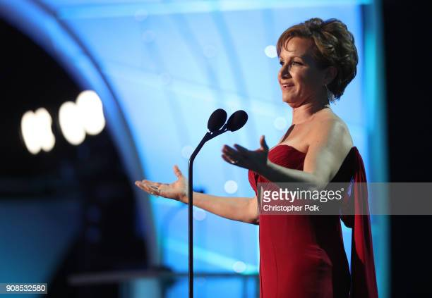 President Gabrielle Carteris speaks onstage during the 24th Annual Screen Actors Guild Awards at The Shrine Auditorium on January 21 2018 in Los...