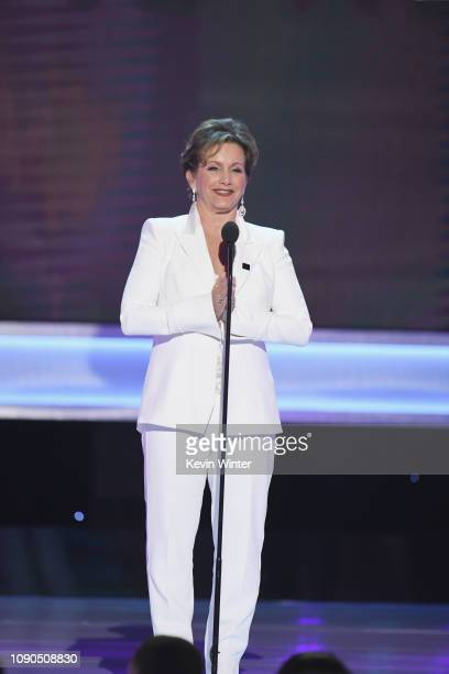 President Gabrielle Carteris speaks onstage during the 25th Annual Screen ActorsGuild Awards at The Shrine Auditorium on January 27, 2019 in Los...