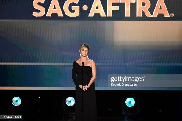 President Gabrielle Carteris speaks onstage during the 26th Annual Screen ActorsGuild Awards at The Shrine Auditorium on January 19, 2020 in Los...