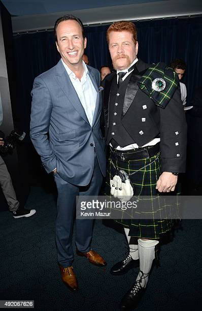 """President General Manager AMC and Sundance TV Charlie Collier and Michael Cudlitz attend AMC's """"The Walking Dead"""" season 6 fan premiere event at..."""