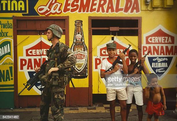 US President George Bush has deployed soldiers in Panama in order to overthrow Manuel Antonio Noriega