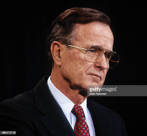 President George HW Bush answers reporters questions about the White House plan to bail out the Savings and Loan Industry and the nomination of John...