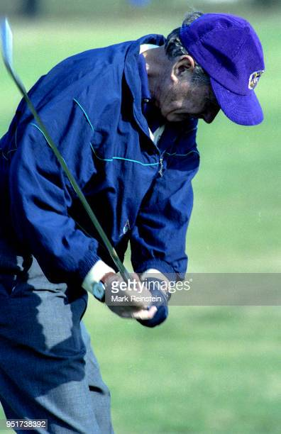 President George HW Bush plays golf at Andrews Air Force Base in Camp Springs Maryland 1991