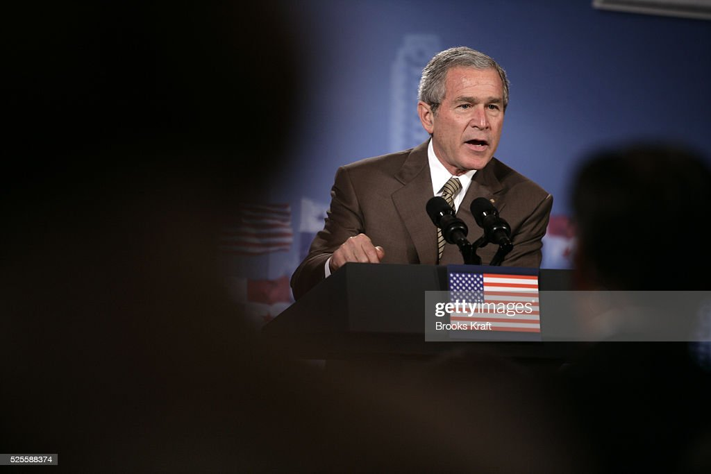 george bush speech rhetorical analysis Rhetorical analysis in president george w bush's speech to the american public on september 20, 2001, bush utilizes rhetorical devices to craft an effective speech.