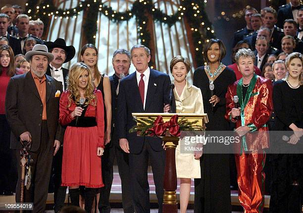 President George W Bush and First Lady Laura Bush at TNT's 'Christmas in Washington' Concert to air Sunday December 15 at 8pm ET/PT live from the...