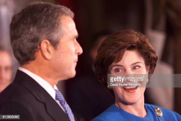 President George W Bush and First Lady Laura Bush during the Presidential Inauguration celebration in Washington DC on January 20 2000