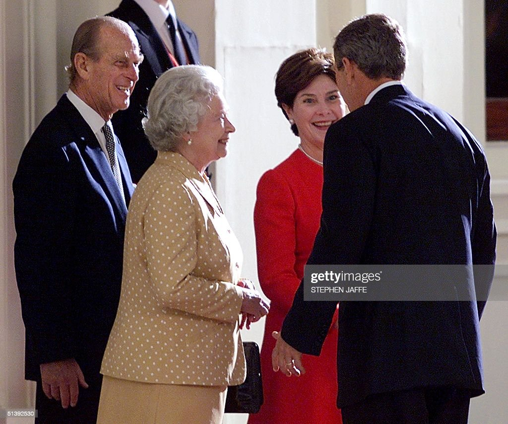 Us President George W Bush R And First Lady Lau Pictures Getty