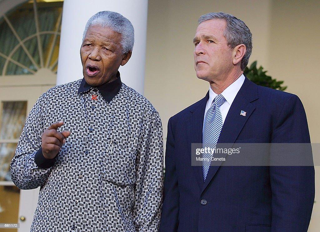 Nelson Mandella Visits the White House : News Photo