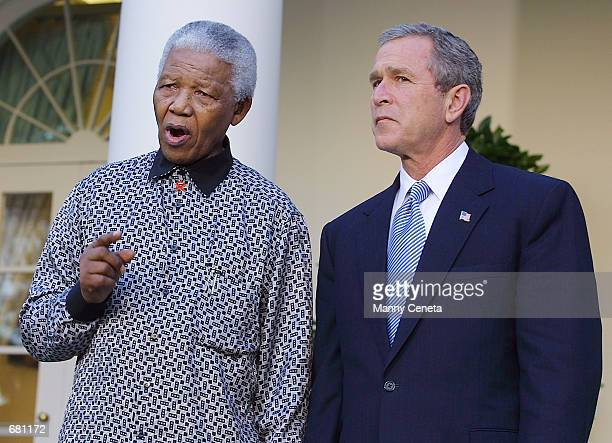 President George W Bush and former South African president Nelson Mandela offer their condolences to the relatives of the victims of American...