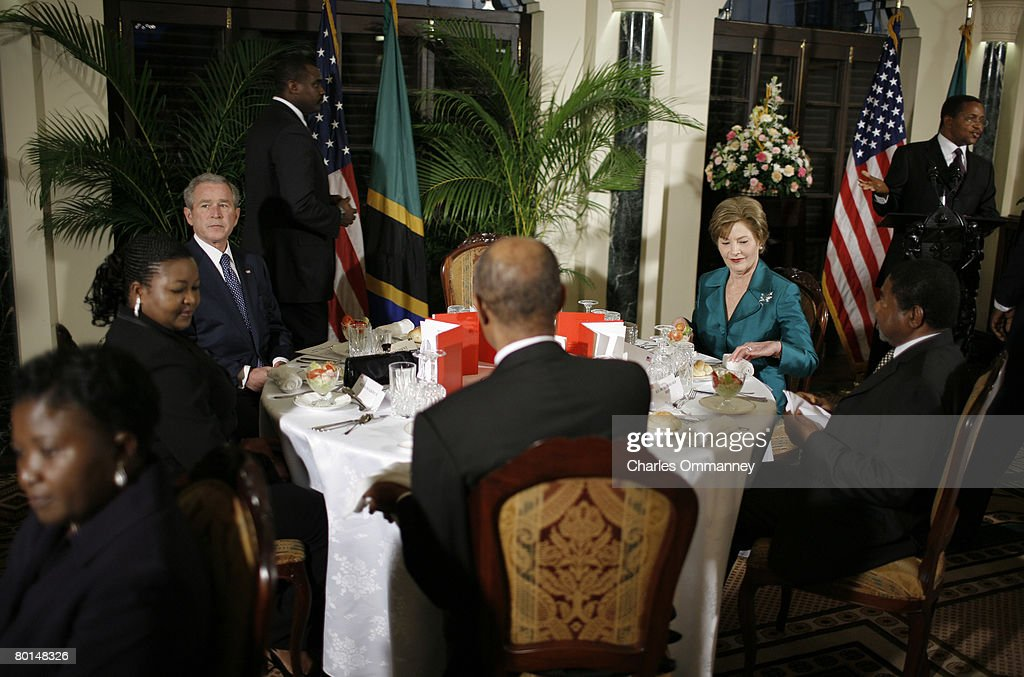 President George Bush Africa Visit 2008 : News Photo