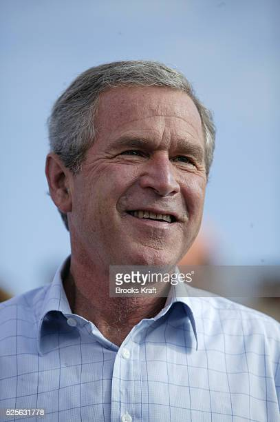 President George W Bush attends a campaign rally in Fort Meyers Florida October 23 2004