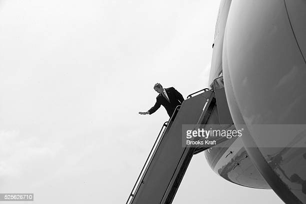 President George W Bush boards Air Force One The president was headed for Topeka Kansas