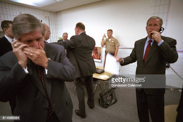 President George W. Bush calls New York Governor George Pataki, FBI Director Robert Mueller and Vice President Dick Cheney Tuesday, Sept. 11 from...