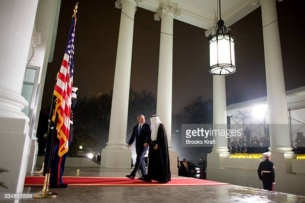 President George W Bush greets world leaders as they arrive at the North Portico of the White House in Washington President Bush invited leaders of...