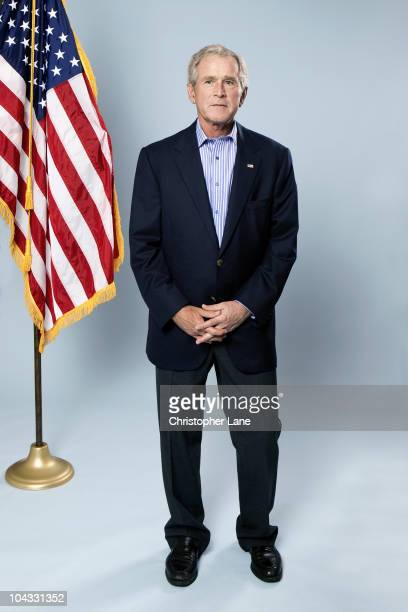 President George W Bush is photographed for a Self Assignment