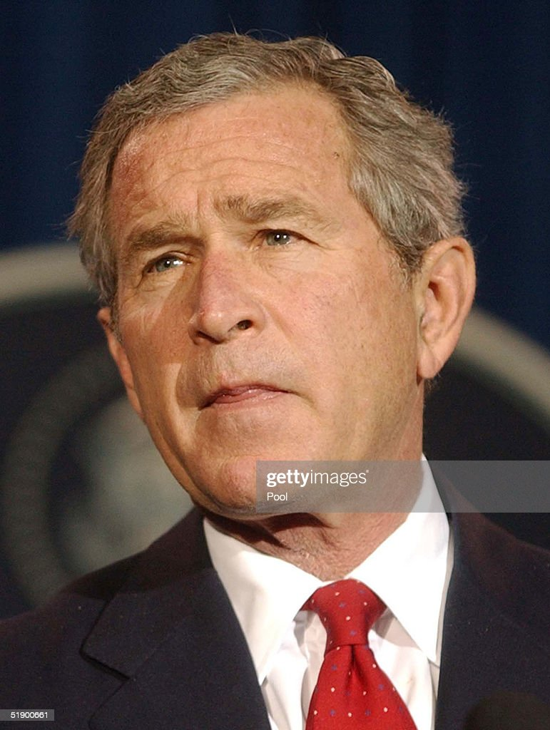U.S. President George W. Bush listens to a question during a news conference at his ranch December 29, 2004 near Crawford, Texas. President Bush spoke on a large number of issues including the aid for the Tsunami victims, Iraq elections as well as flooding on the West Coast.