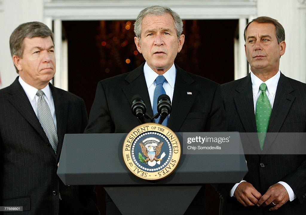 President Bush Meets With House Republicans : News Photo