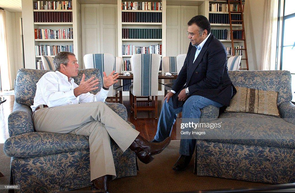 Bush Meets With Saudi Ambassador : News Photo