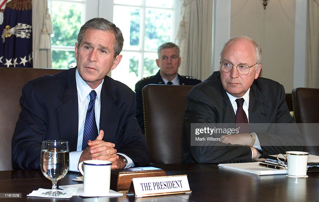High Quality U.S. President George W. Bush Meets With Vice President Dick Cheney And  Other Cabinet Members