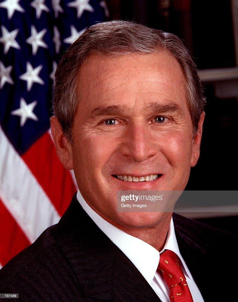 Official Portrait Of US President George W. Bush : News Photo