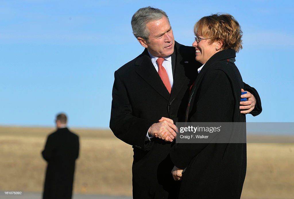 President George W Bush Presented The Presidents Volunteer Service