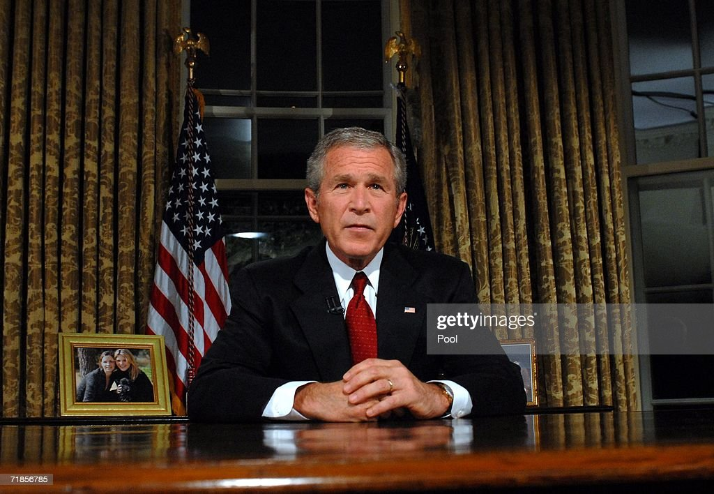 Bush Addresses Nation On 9/11 Anniversary : News Photo