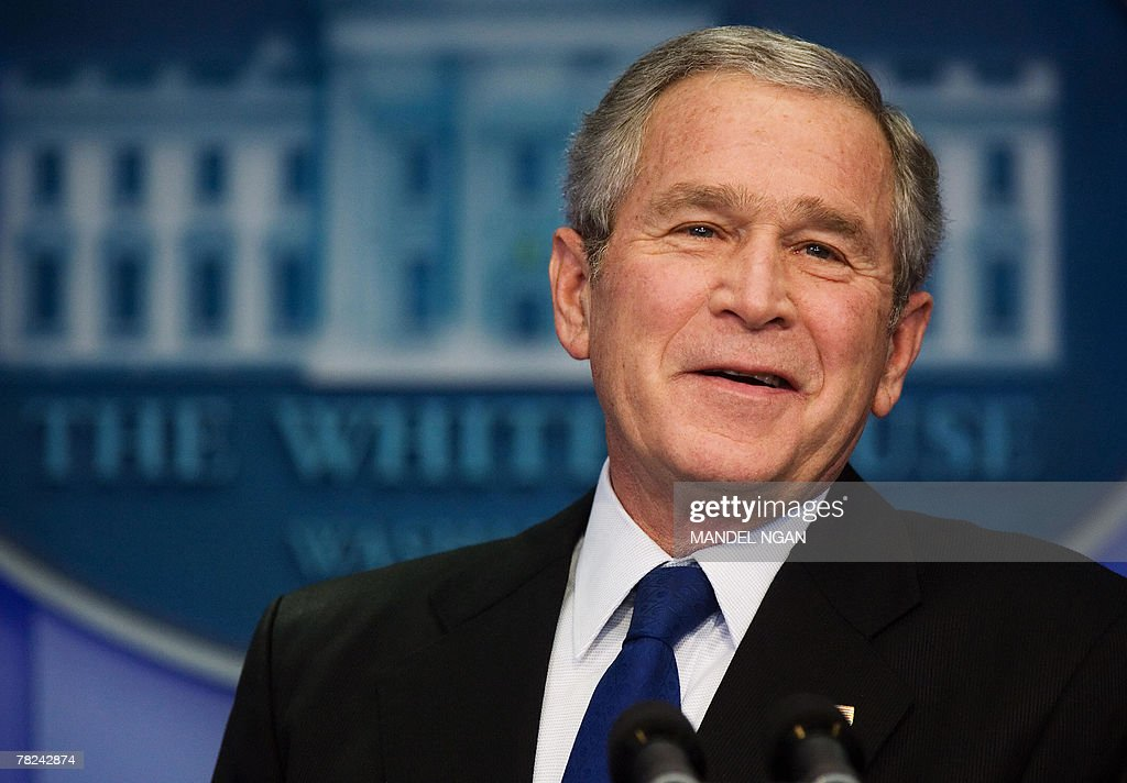 Bush Holds Press Conference At White House