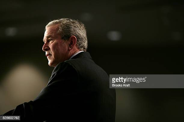 President George W. Bush speaks about his Administration's Global War on Terror and national security while at the Emerald at Queensridge in Las...
