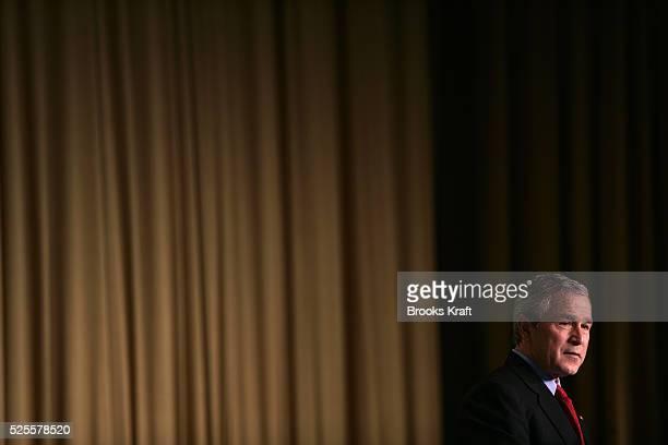 US President George W Bush speaks at the National Prayer Breakfast in Washington February 2 2005