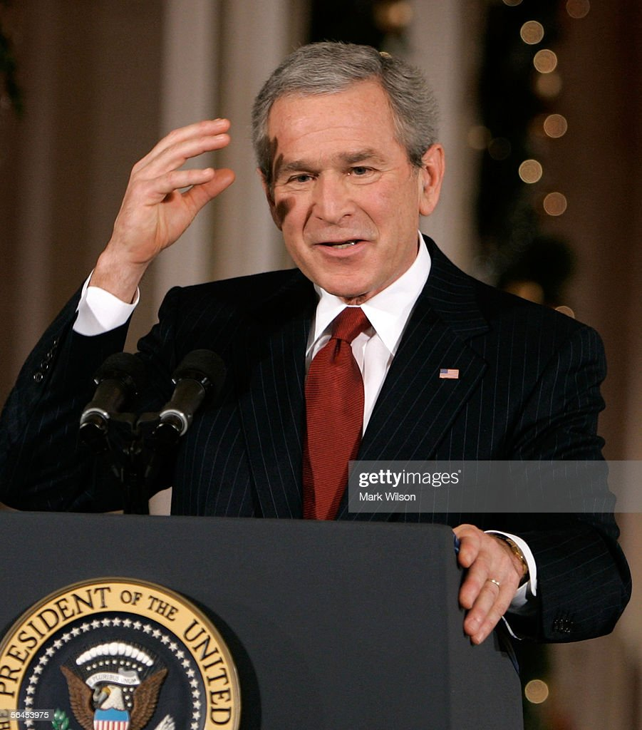 President Bush Holds A Press Conference