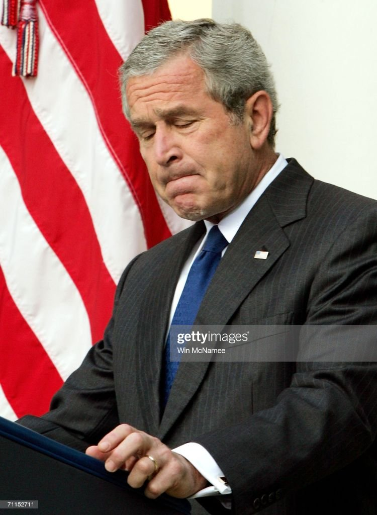 President Bush Speaks On Death Of al-Zarqawi In Iraq : News Photo