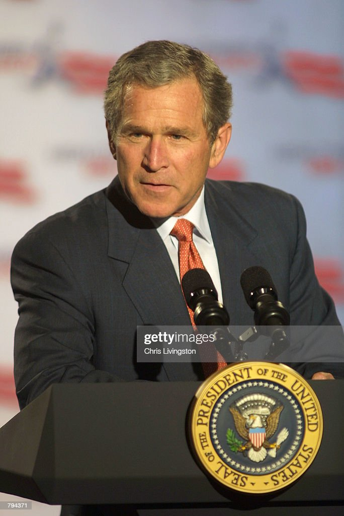 U.S. President George W. Bush Visits Florida : News Photo