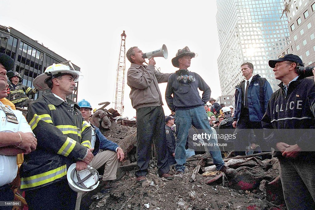Bush Speaks At Ground Zero : News Photo