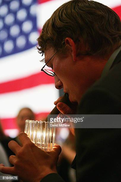 President George W. Bush supporter lights a victory cigar believing that his candidate has won on November 2, 2004 in Las Vegas, Nevada. A major...