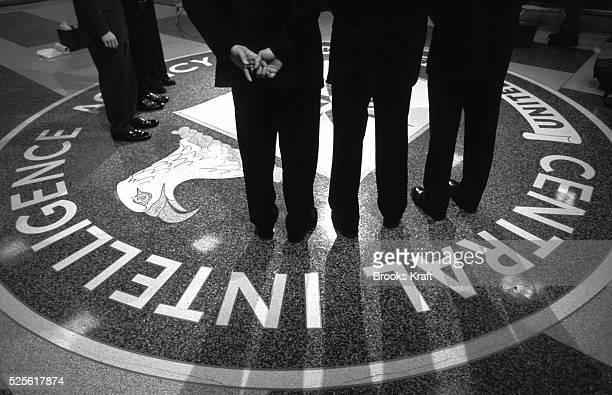 President George W Bush visits CIA Headquarters