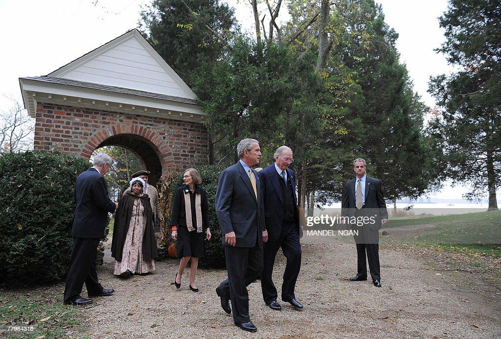 US President George W. Bush visits the T : News Photo