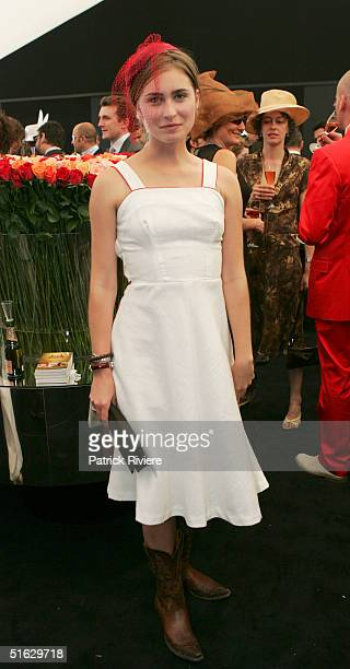 S President George W Bush's niece Lauren Bush attends the Melbourne Cup Carnival Derby Day in the Moet et Chandon marquee at Flemington October 30...