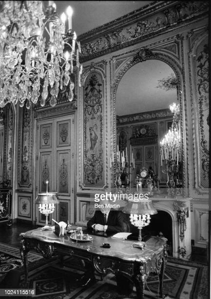 President Georges Pompidou in his office at the Elysee Palace, Paris, France, 16th February 1970.