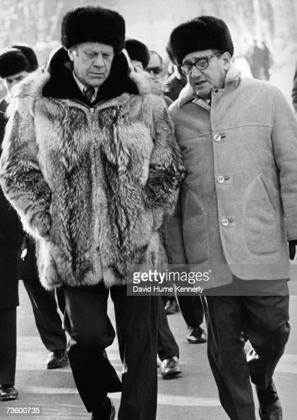 President Gerald Ford and Secretary of State Henry Kissinger at the Vladivostok Summit USSR November 23 1974