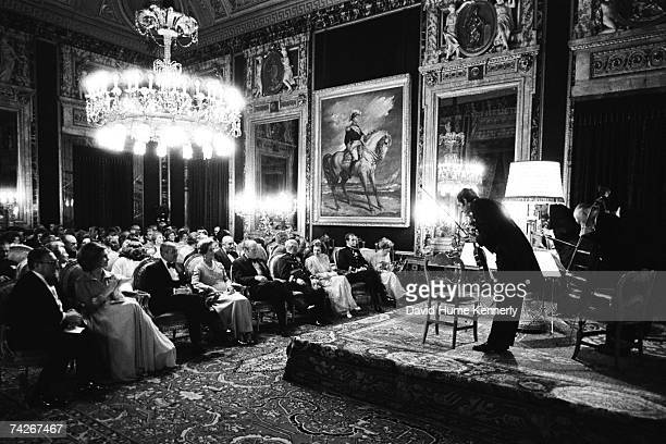 President Gerald R Ford First Lady Betty Ford General Francisco Franco his wife Carmen Polo Franco Prince Juan Carlos of Spain and Princess Sofia of...